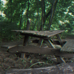 freetoedit table picnictable forrest trees