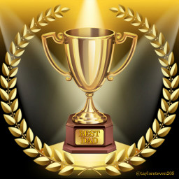 freetoedit fathersday bestdad trophy gold