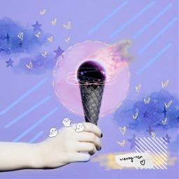 freetoedit space pastel cute aesthetic ecicecream