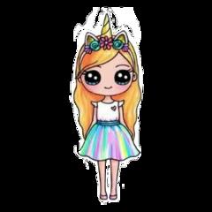 unicorn real girl unicorngirl freetoedit