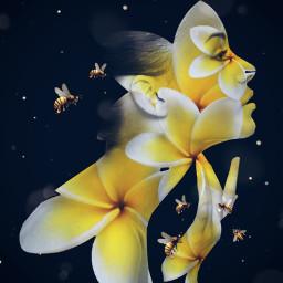 artisticportrait selfieflower flower doubleexposure drawtools