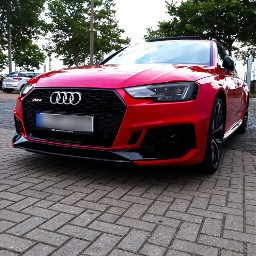 red audi rs4 quattro car