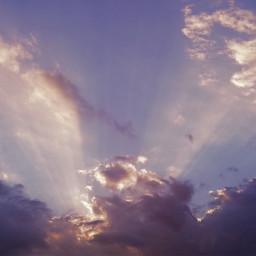 freetoedit clouds rays sun sunset