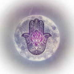hamsahand moon peacelovepomskies spiritualart spirituality freetoedit