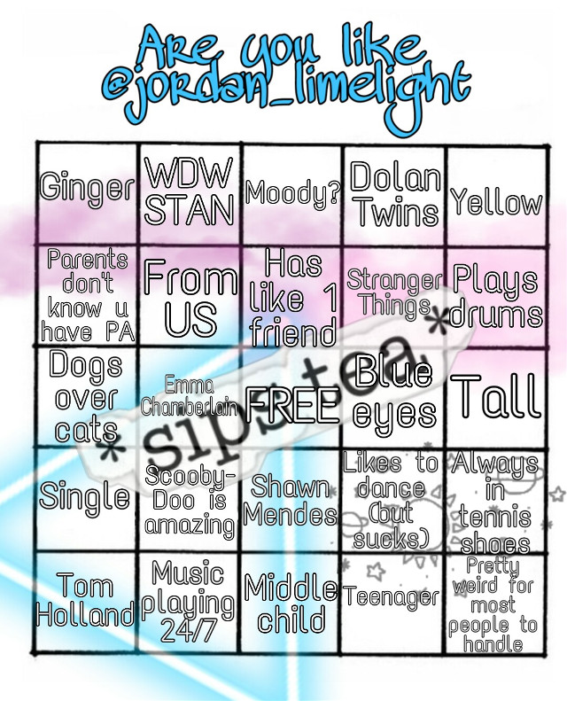 How alike are we? Have fun with this bingo😊 #freetoedit