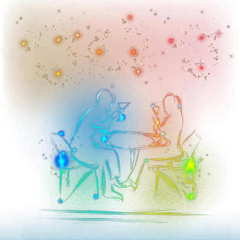 ftestickers fantasyart couple bar neon freetoedit