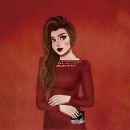 freetoedit red dress girly_m girly
