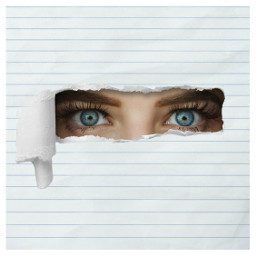 freetoedit paper book eyes blueeye srctornpaper