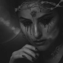 freetoedit woman dark eyes blood
