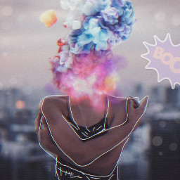 freetoedit colorfulsmoke boom girl