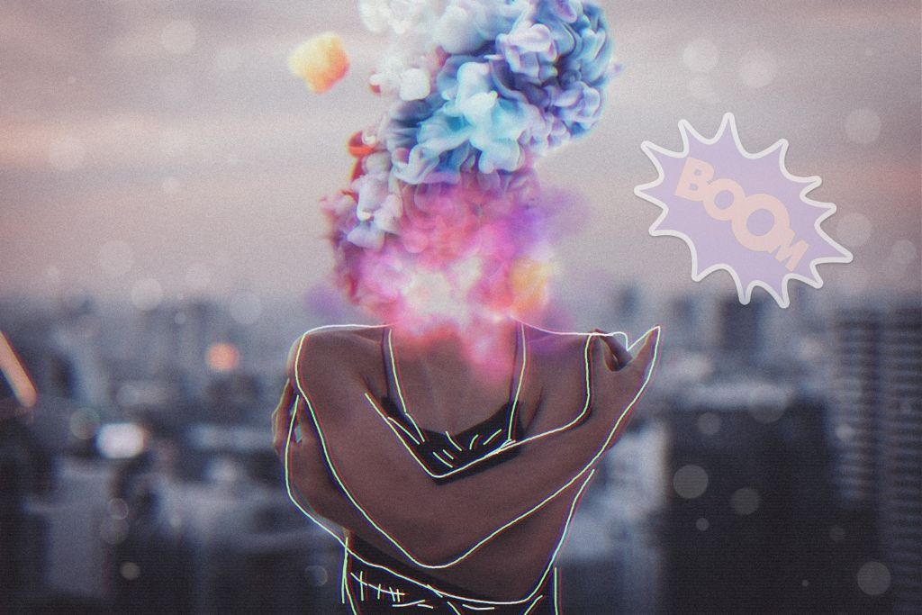 #freetoedit #colorfulsmoke #boom #girl