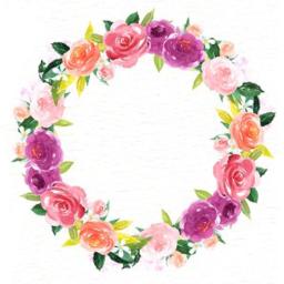 wreath floralwreath flowers watercolor blank freetoedit