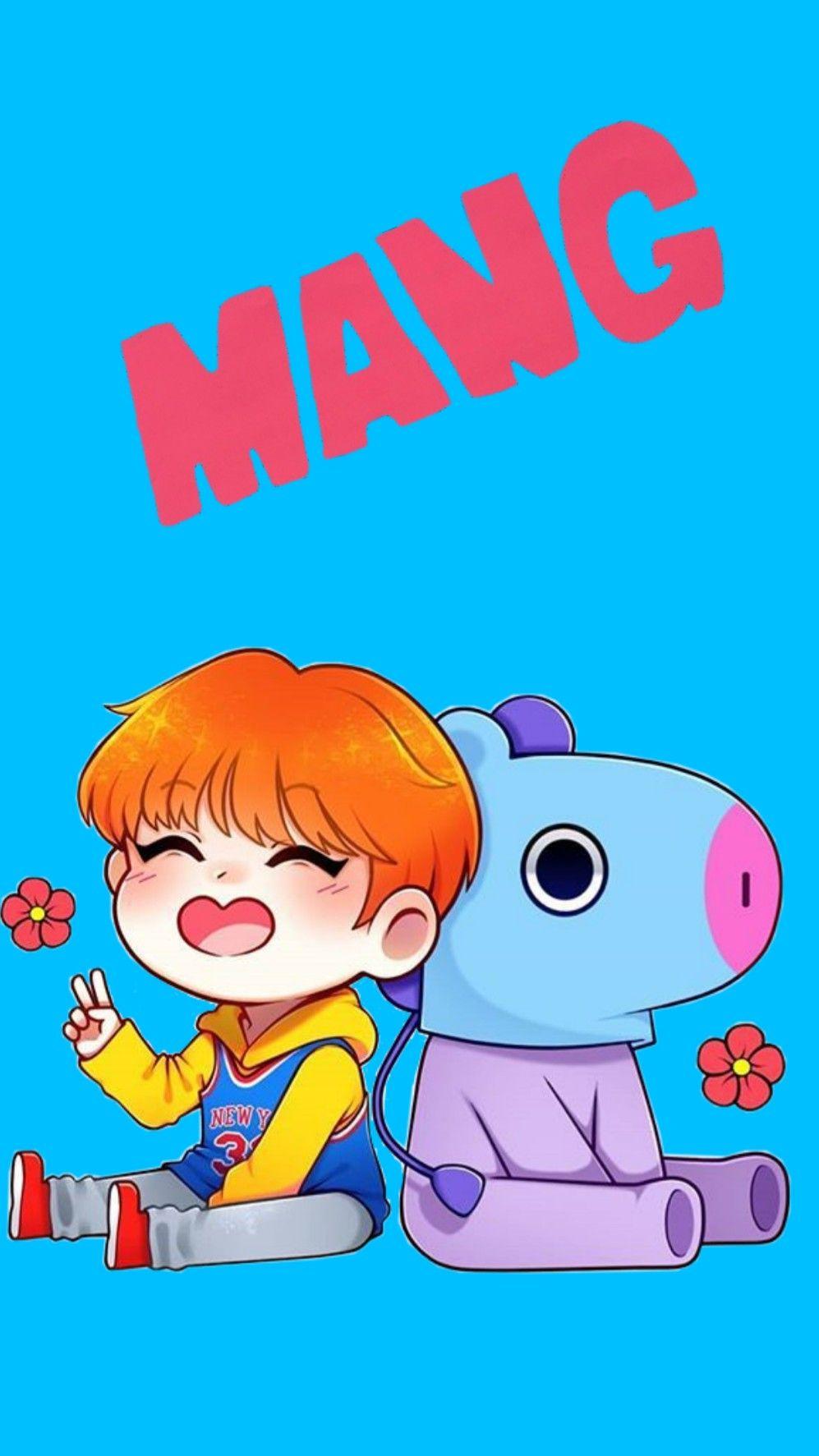 Freetoedit Mang Bt21 Kpop Jhope Bt21mang Wallpaper W
