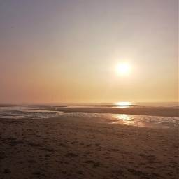 freetoedit sunset beach sea hazy