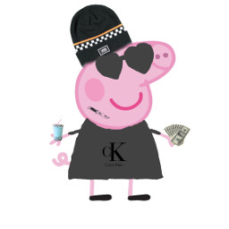 freetoedit peppa-pig pink criminal calvinklein