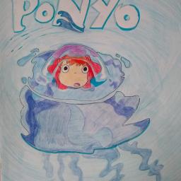 anime ponyo goldfish drawing studioghibli
