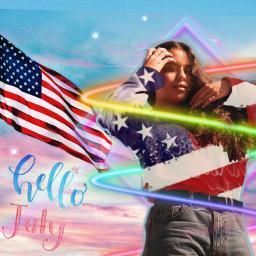 freetoedit girl 4thofjuly americanflag americangirl