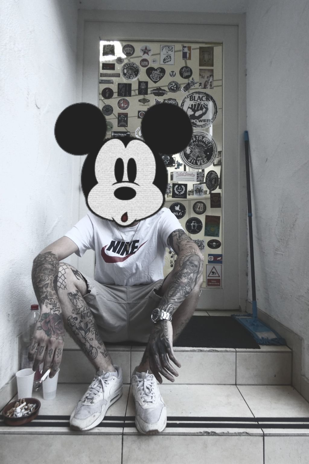 Freetoedit Mickey Tattoo Limburg Street Art