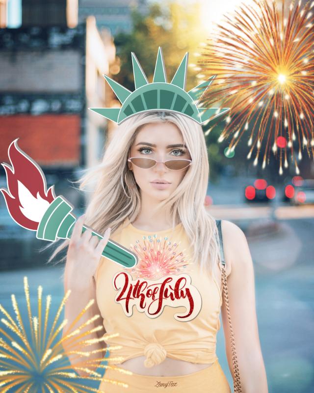 Happy 4th of July!!! 🇺🇲💯❤️💙😉 #4thofjuly  #redwhiteandblue #independenceday #happy4th #happyfourthofjuly #statueofliberty  #freetoedit Original Girl photograph by👉 @jjguzman0601 Thank you. #heypicsart