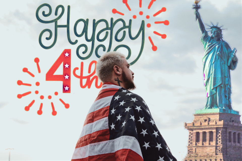 #freetoedit #happy #4thofjuly #indipendenceday #liberty #statueofliberty