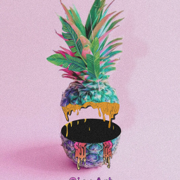 freetoedit pineapple grimeart be_creative picsart