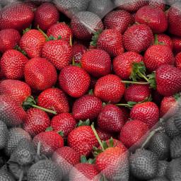 freetoedit heart strawberry madewithpicsart