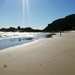 freetoedit ocean beach sky southafrica ircstarfish