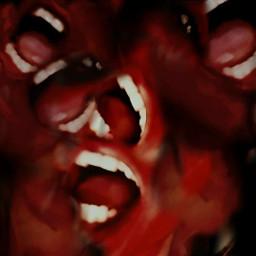evil surreal blood horror horrorart