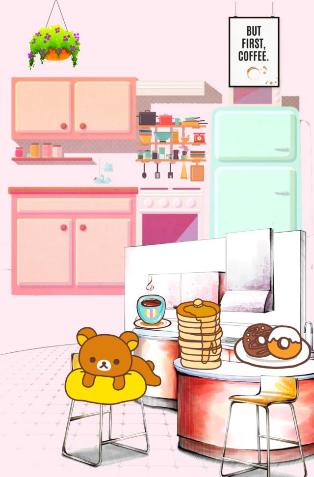#freetoedit #cartoon #kitchen #breakfast #coffeetime #pancakes #cute #stickerart #blending #adjusttools #editstepbystep #myedit #madewithpicsart