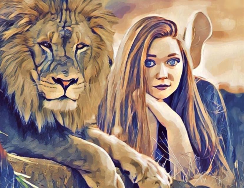#freetoedit #lion #defilion #girlportrait #fille #criniere