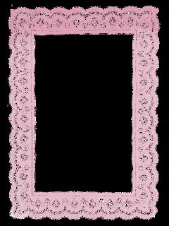 ftestickers frame lace vintage pink freetoedit