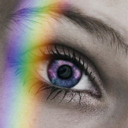 freetoedit eyesgalaxy raindow