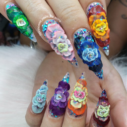 nails nailart 3dnailart monet waterlillies