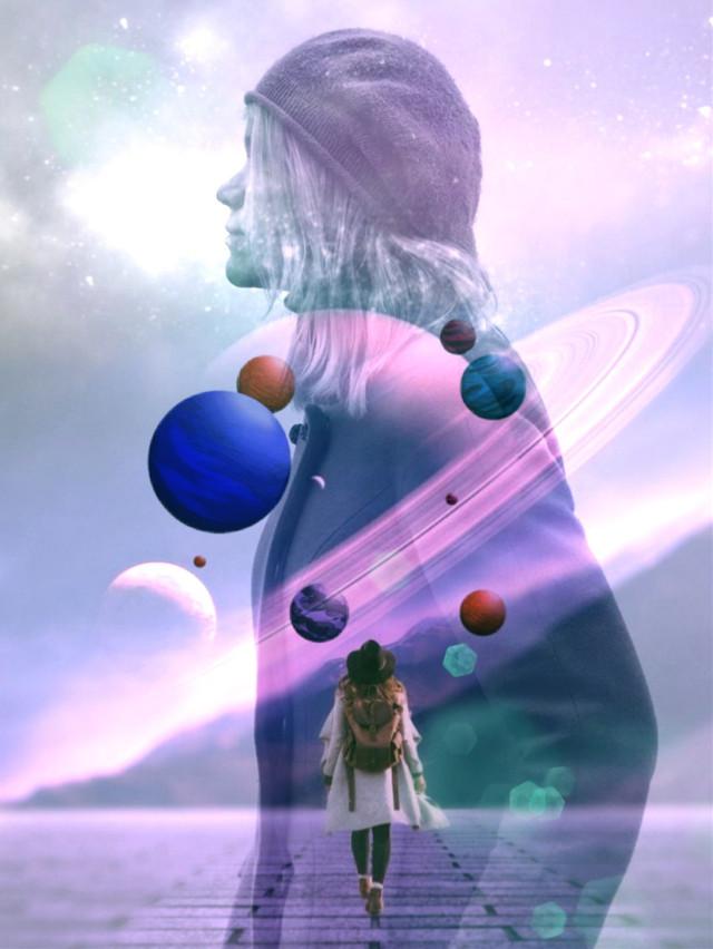 #freetoedit #future #galaxy #doubleexposure #picsarteffects #lensflare #curvetool