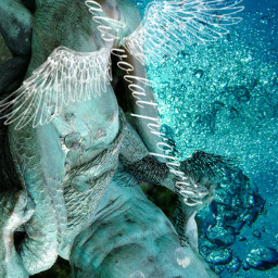 mermaid neptune mythology fantasy sea sculpture