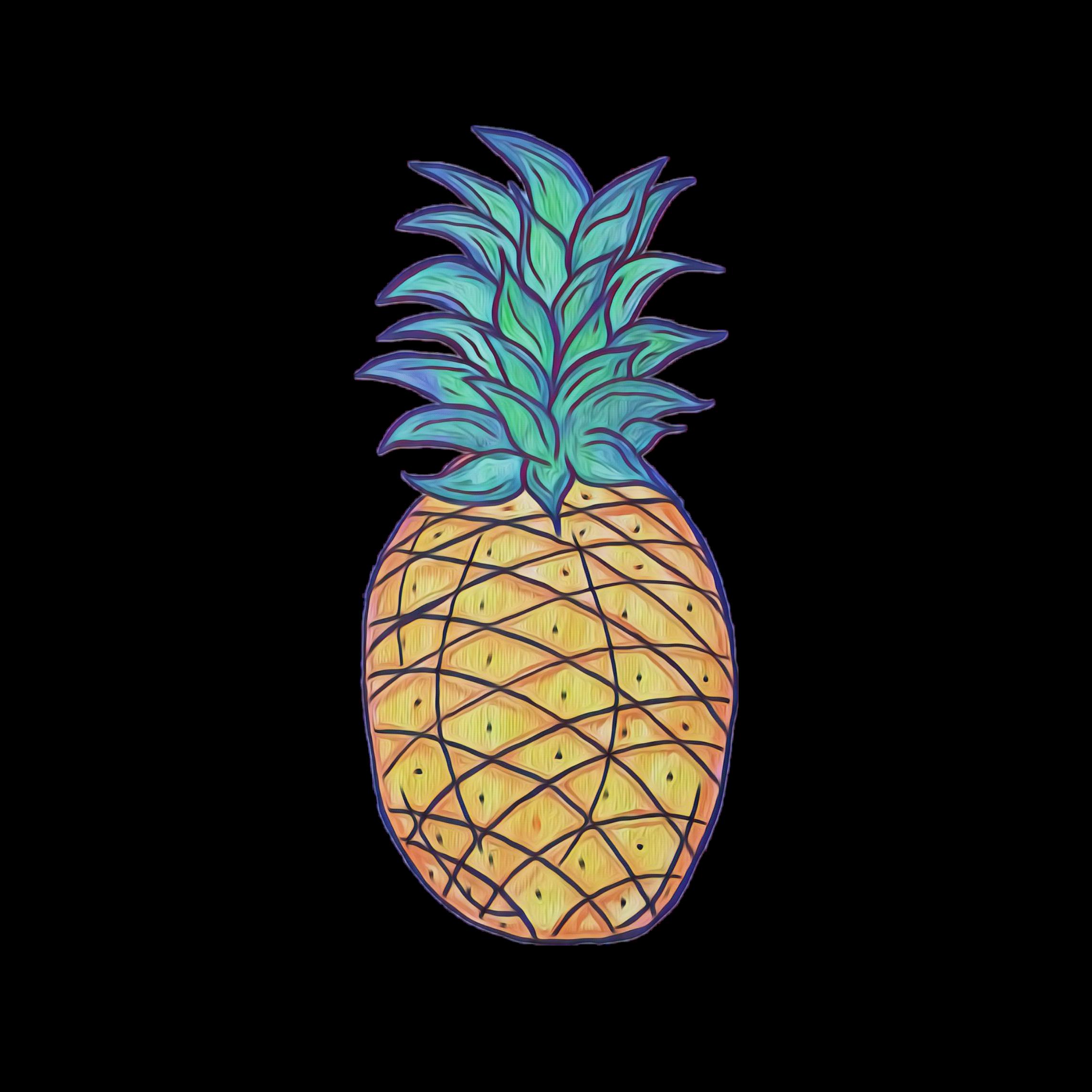 Cute Pineapple Sticker By Tulipe