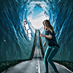freetoedit sea woman skate highway ircwatermirror