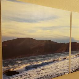 painting wallart blueandwhite waves pchallenge pcblueandwhite