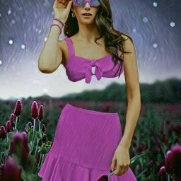 freetoedit summergirl sunglasses prettyinpink flowerfield