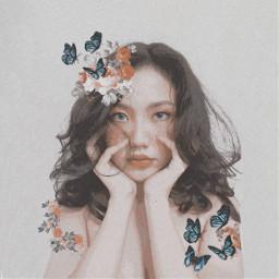 freetoedit goddess godisawoman woman butterfly