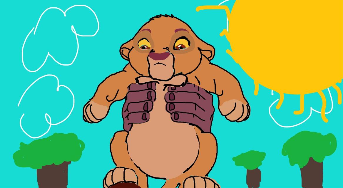 Vote 4 baby simba and he will give u a 💋❤🤗  #dcjungles #jungles #lionking #circleoflife #simba #hakunamatata #Disney #picsart #photoart #drawing #art #2019