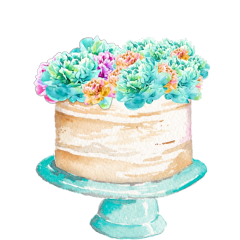 watercolor cake birthday anniversary celebration freetoedit
