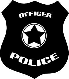 badge police officer policeofficer black freetoedit