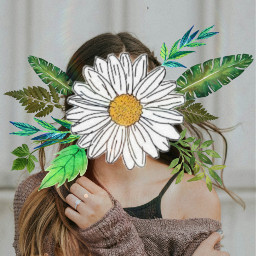 freetoedit flowerpower girl leavs