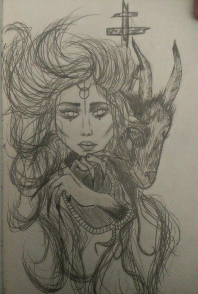 #drawforme #drawing #draw #drawsocute #goat #satanism #satanick #satanist #satanism  #satania #womens #women #womendraw #black and white