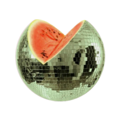 disco watermelon sphere circle round freetoedit