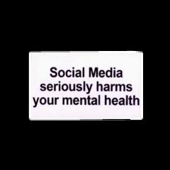 socialmedia harm mentaly mentalhealth health freetoedit