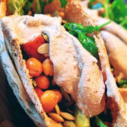 summer pita vegan vegetarian dinnerfortwo