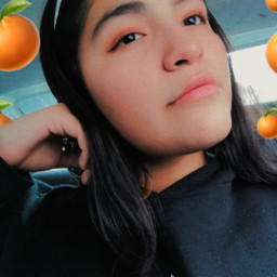 freetoedit cute orange asthetictumblr makeup