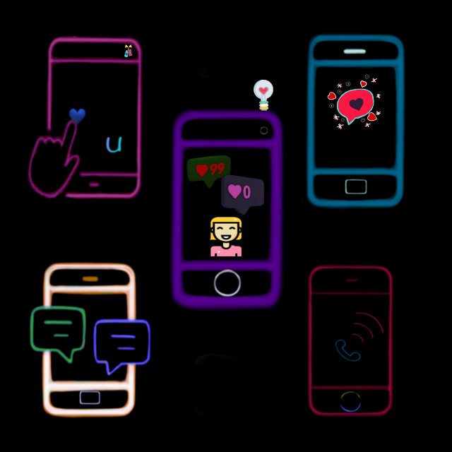 #freetoedit # colorful#cellphone #stickers